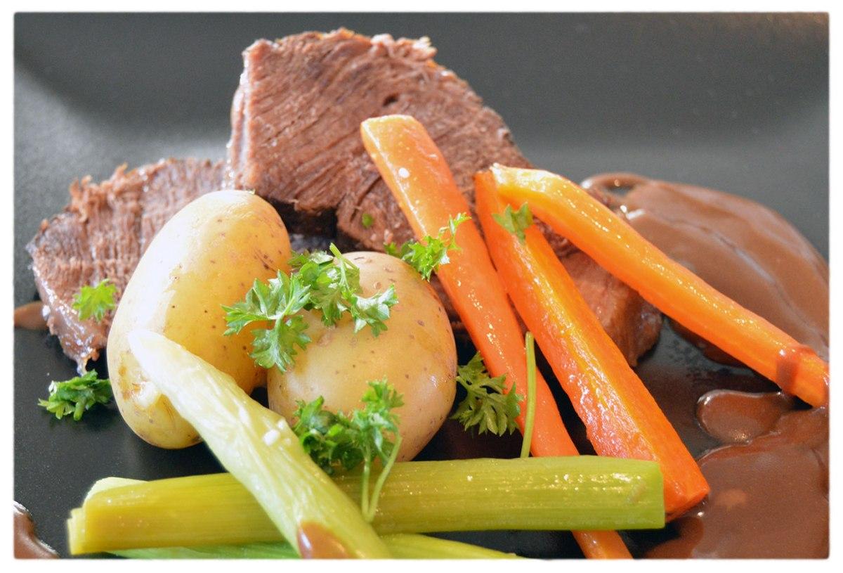 Gammeldags oksesteg – langtidsstegt med pilsner og smørstegte grøntsager – Jelling Naturkød Bloggen